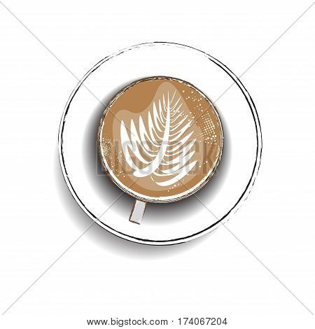 hot latte ,coffee icon set