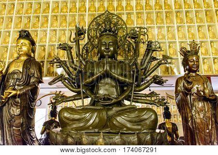 Bodhisattva Statue In A Temple