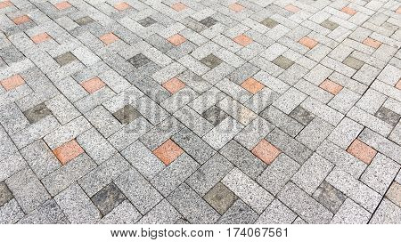 Granite stone tiles close up background photo