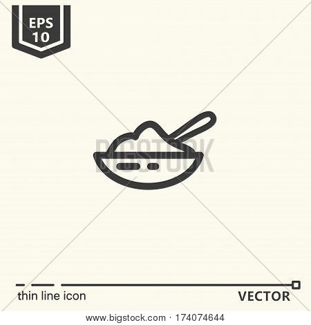 Thin line icon. EPS 10 Isolated objects
