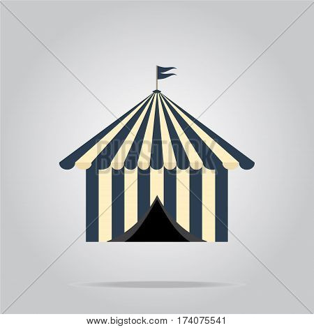 Circus pavilion tent icon, abstract vector illustration