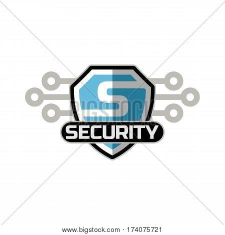 security logo icon emblem vector template .