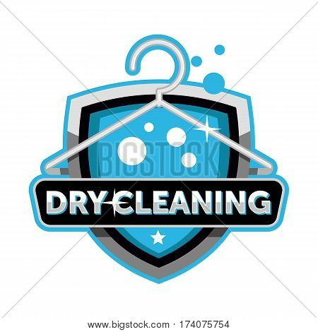 Dry cleaning logo icon badge emblem template