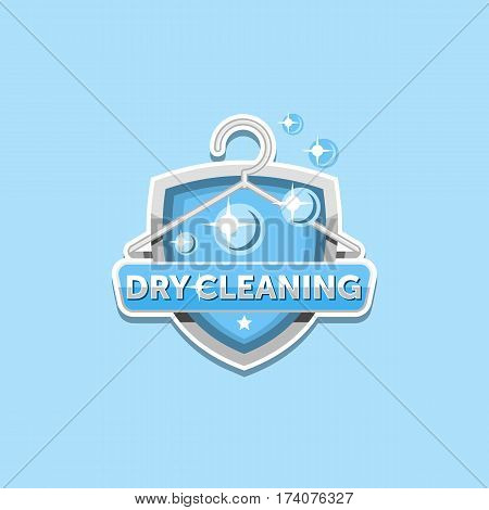 Dry cleaning logo emblem template design .