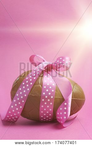 Large Happy Easter Chocolate Easter Egg