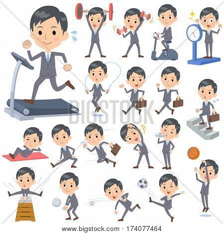 Gray Suit Businessman Sports & Exercise