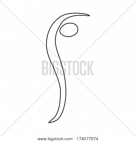 figure person standing on tiptoe, vector illustraction design