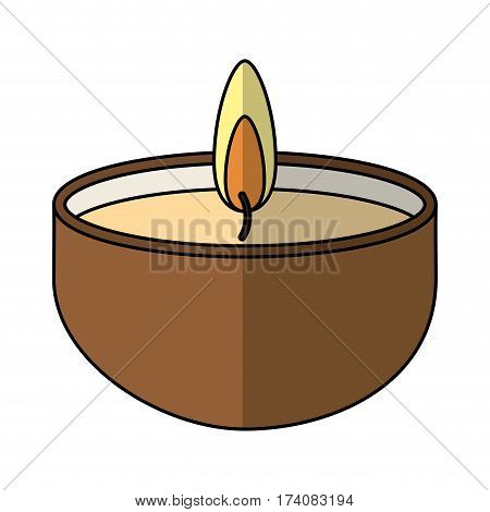 candle spa aroma therapy vector illustration design