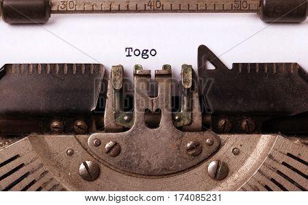 Old Typewriter - Togo