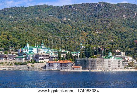 Saint Panteleimon Monastery Athos Peninsula Mount Athos Chalkidiki Greece