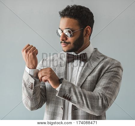 Stylish Afro American Guy
