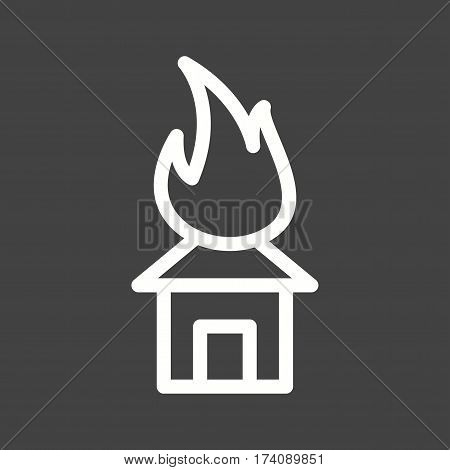 Fire, house, heat icon vector image. Can also be used for disasters. Suitable for mobile apps, web apps and print media.