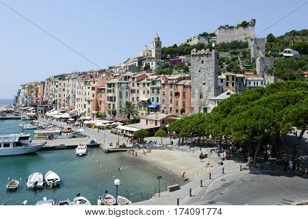 The Town Portovenere On Italy