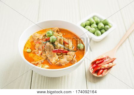 savory curry with pig, Local food Thailand