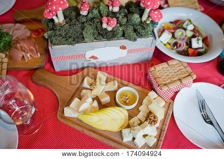 sandwiches and snacks at the Coffee Break beautiful table
