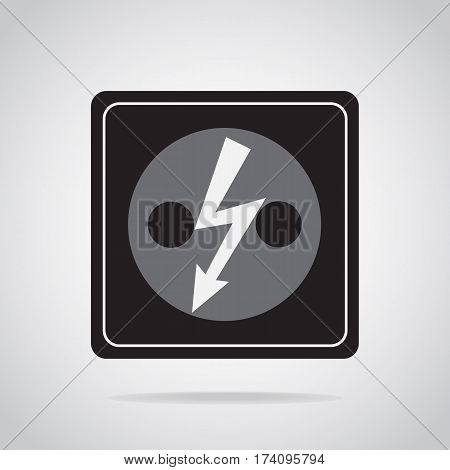Plug socket icon. Do not touch electrical appliances or switches icon warning sign