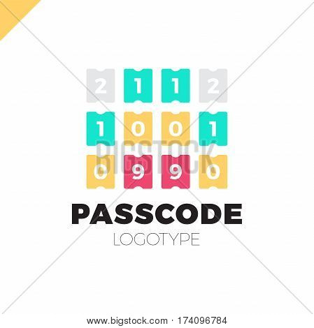 Enter Pin Or Pass Code Icon. Security Number Logo
