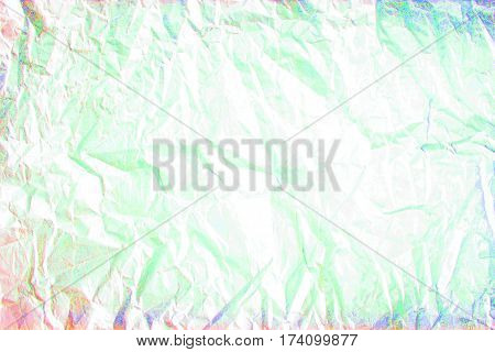 abstraction light blue red colour paint creased paper, background texture  paper sheet  crumpled