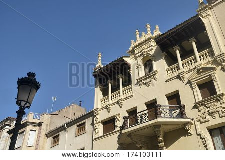 Jaen (Andalucia Spain): building with typical balcony