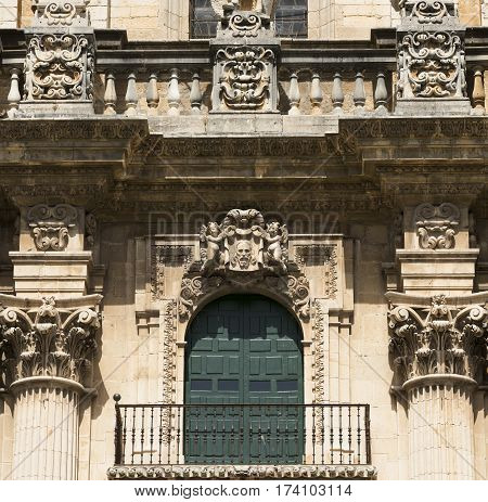 Jaen (Andalucia Spain): the medieval cathedral built from 13th to 18th century in Baroque style. Facade