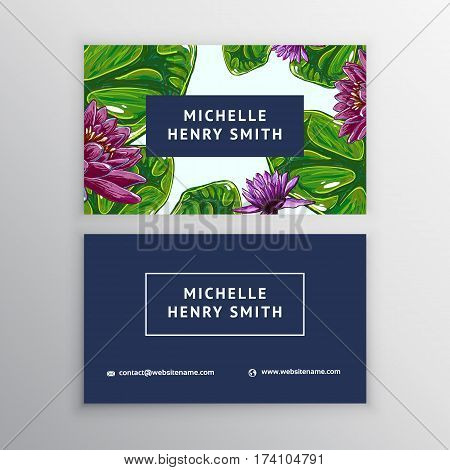 Business Card Lotus Vector & Photo (Free Trial) | Bigstock