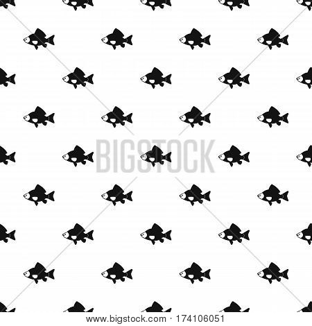 Crucian fish pattern. Simple illustration of crucian fish vector pattern for web design