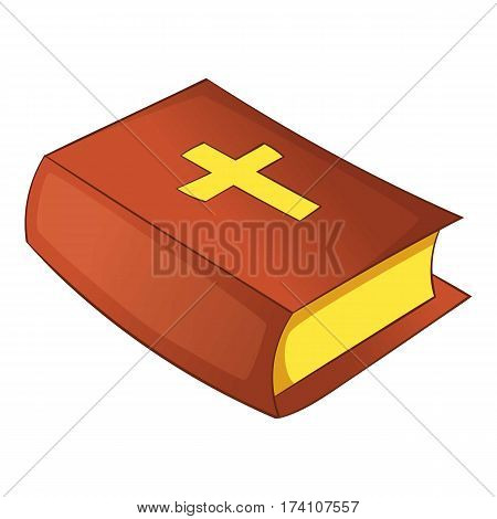 Bible icon. Cartoon illustration of bible vector icon for web