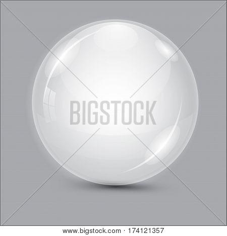 Glass Ball. Transparent Ball.