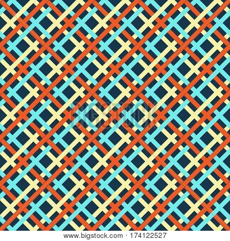 Seamless multicolor bright lines geometric abstract pattern
