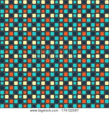 Seamless bright fun mosaic geometric abstract pattern