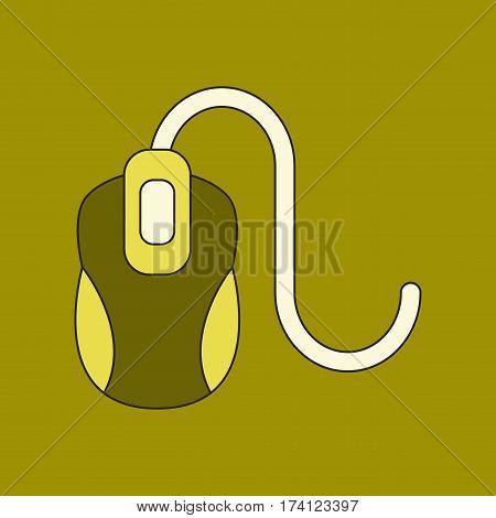 flat icon on stylish background computer mouse