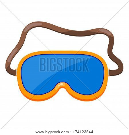Vector illustration of a yellow mask for diving. Cartoon mask for scuba diving on a white background. Subject hobbies and summer entertainment. stock vector