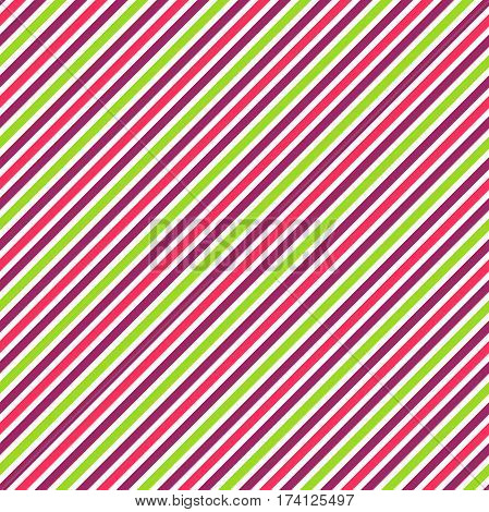 Seamless Multicolor Bright Fun Abstract Diagonal Pattern