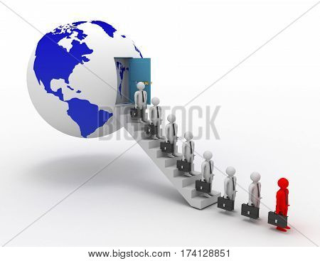 3d leadership .Gobal business concept. rendered illustration
