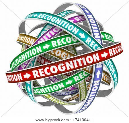 Recognition Appreciation Cycle Flow Rewards Word 3d Illustration