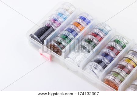 Seed Beads In Bead's Storage System