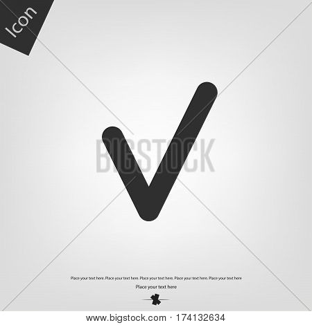 Chek icon, gray background. Vector illustration .