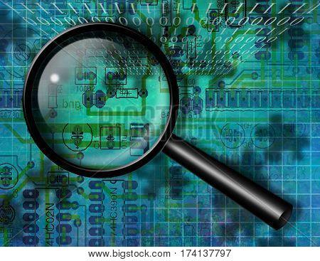 Internet Search  3D Render