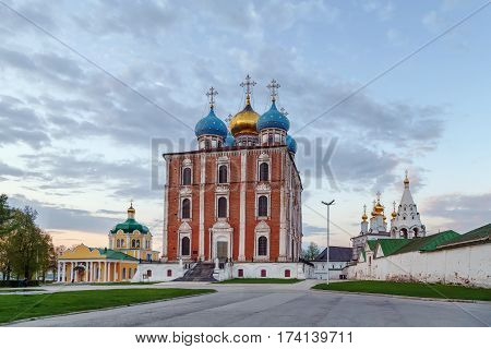 View of Ryazan Kremlin with Assumption Cathedral Russia