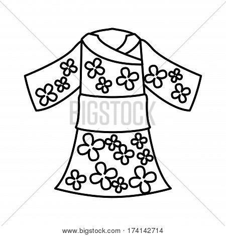 japanese typical costume female vector illustration design