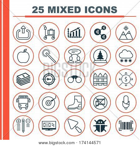 Set Of 25 Universal Editable Icons. Can Be Used For Web, Mobile And App Design. Includes Elements Such As Magic Sphere, Decision Making, Sparkles And More.