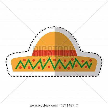 Typical latin american hat vector illustration design