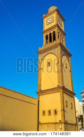 Clock tower at Bazar Aya in the old Medina of Casablanca - Morocco