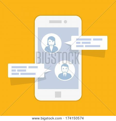 Sms messenger service interface - texting conversation