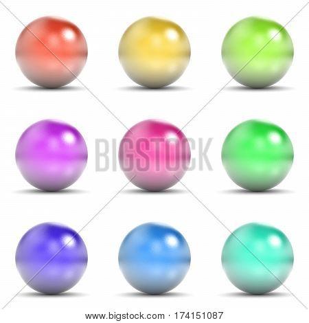 Colorful Metallic Sphere Set