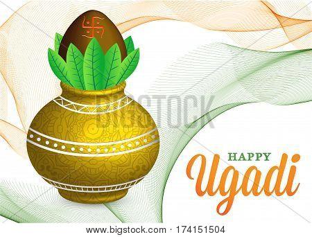 Vector Illustration Happy Ugadi Celebration EPS 10