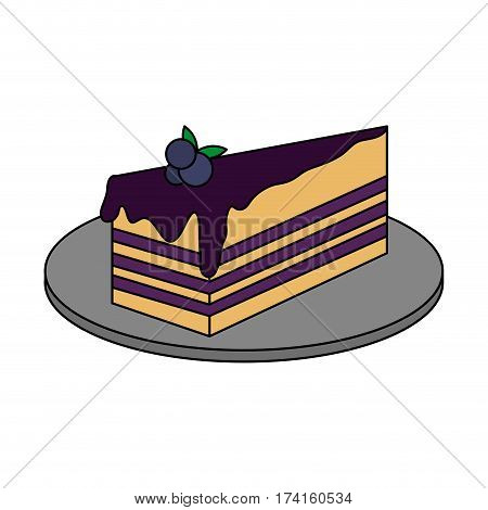 blueberry cake pastry icon image pastry icon image vector illustration design