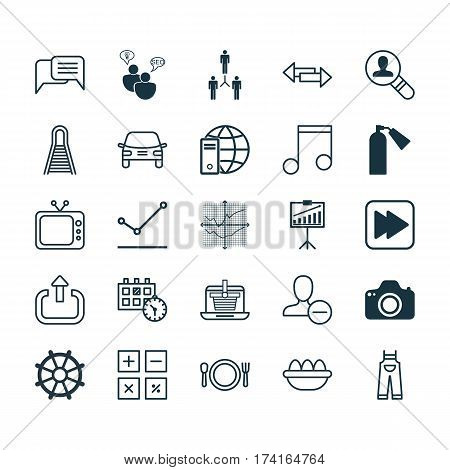 Set Of 25 Universal Editable Icons. Can Be Used For Web, Mobile And App Design. Includes Elements Such As Appointment, Note, Ovum And More.