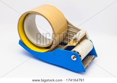 Run Out of Adhesive/ Scotch Tape on White Background/ Isolated