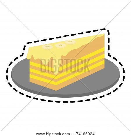 frosted cake pastry icon image pastry icon image vector illustration design